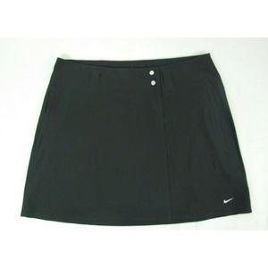 Nike Golf Women Black Tennis Skirt Flat Front Sz 8